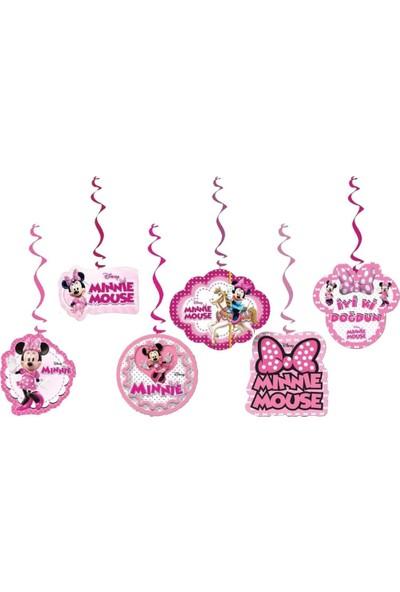 PartiniSeç 6lı Minnie Mouse Partisi Konsept Organizasyonu Yazı Süsleri
