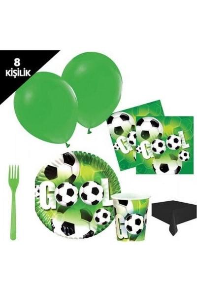 PartiniSeç 8 kişilik Futbol Parti Malzemeleri Paket Doğum günü Seti Konsept