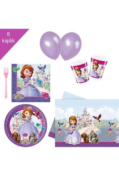 PartiniSeç Prenses Sofia, Sofya 8 Kişilik 6 Parça Doğum Günü Seti malzemeleri