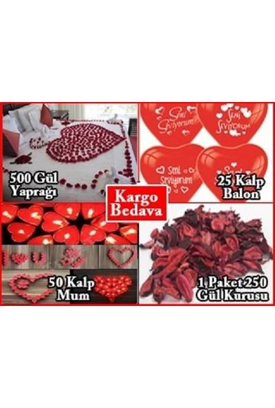 PartiniSeç Romantik Aşk Paketi Evlilik Teklifi, Sevgiliye Hediye Süsleri