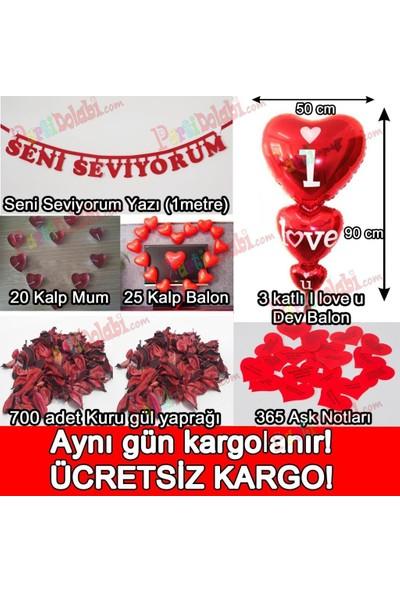 PartiniSeç Yıl Dönümü Sürpriz Süsleme Paketi, Yıldönümü Romantik Süsleme Aşk