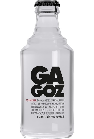 Gagoz Cam Klasik 250Ml - Frambuaz Aromalı Gazoz