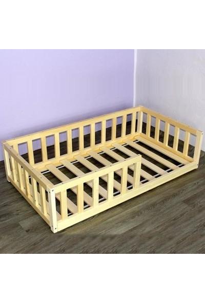 Markaawm Montessori Çocuk Yatak Yatak Doğal Çam Ağacından 90X190