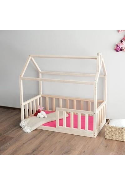 Markaawm Montessori Yatak Çocuk Yatak Doğal Çam Ağacından 90X190
