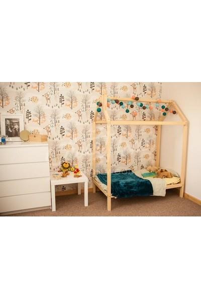 Benim Montessorim Yatak Çocuk Yatak Doğal Çam Ağacından 90X190