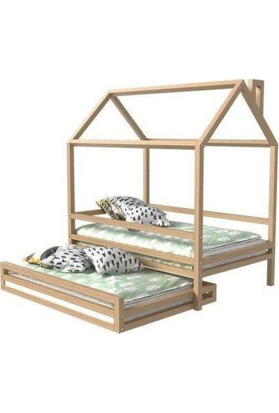 Markaawm Montessori Yatak Çocuk Yatak Yavrulu Doğal Çam Ağacından 90X190