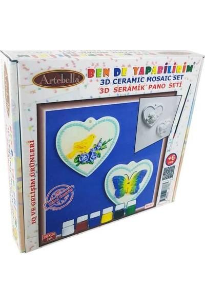 Artebella 3D-03 Seramik Boyama Seti 20X20 Cm