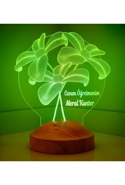Sevgi Lambası Öğretmenler Günü Hediyesi Çiçek Buketi LED Lamba