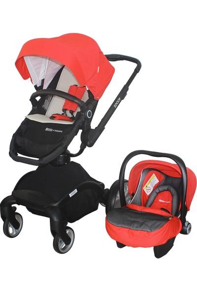 Star Baby Space Travel Sistem Bebek Arabası Kırmızı