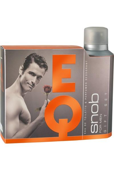 Snob Eq Edt 100 ml + Deodorant 150 ml Hediyeli Kofre
