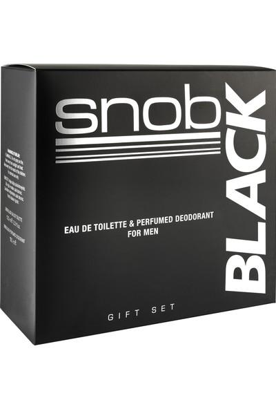 Snob Black Edt 100 ml + Deodorant 150 ml Hediyeli Kofre