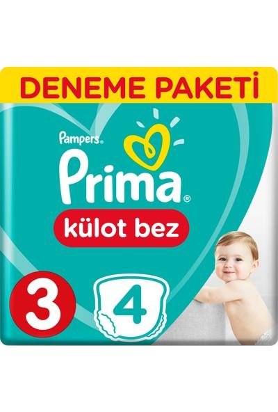 Prima Külot Bebek Bezi 3 Beden Midi 4'lü Deneme Paketi