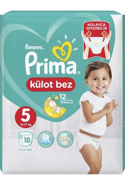 Prima Külot Bebek Bezi 5 Beden 18 Adet Junior Tekli Paket