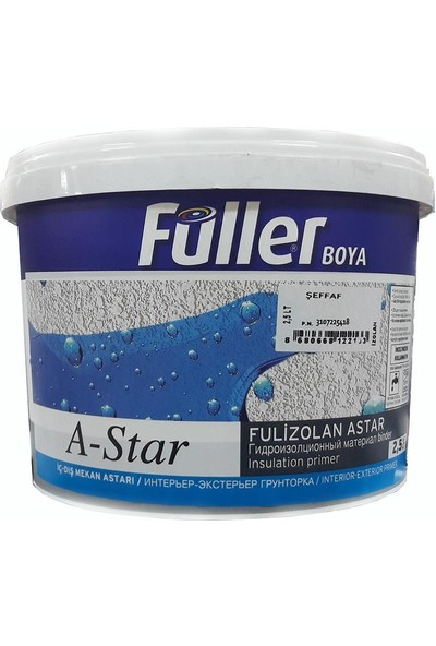 Füller A-Star Fulizolan İç / Dış Cephe Astarı Şeffaf 2,5 Litre