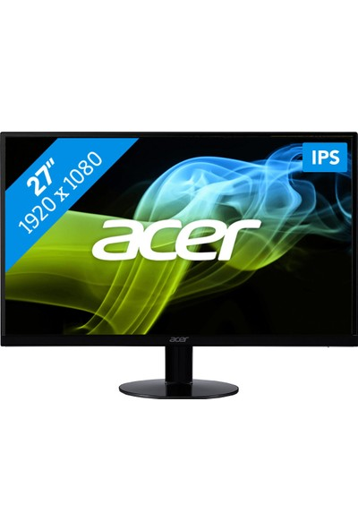 "Acer SA270bid 27"" 4ms (Analog+DVI+HDMI) Full HD IPS LED Monitör"