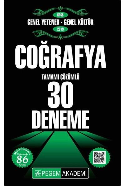 Pegem Akademi 2019 KPSS Genel Yetenek - Genel Kültür Coğrafya 30 Deneme - Önder Cengiz - Mustafa Mervan Demir