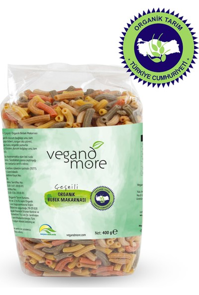 Vegandmore Organik Çeşnili Bebek Makarnası 400 gr