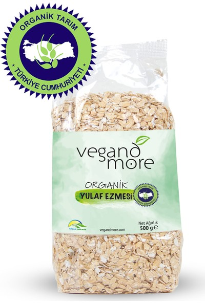 Vegandmore Organik Yulaf Ezmesi 500 gr