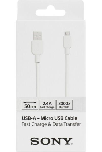 Sony CP-AB50WBOXMicro USB Kablo (50 cm) - Beyaz