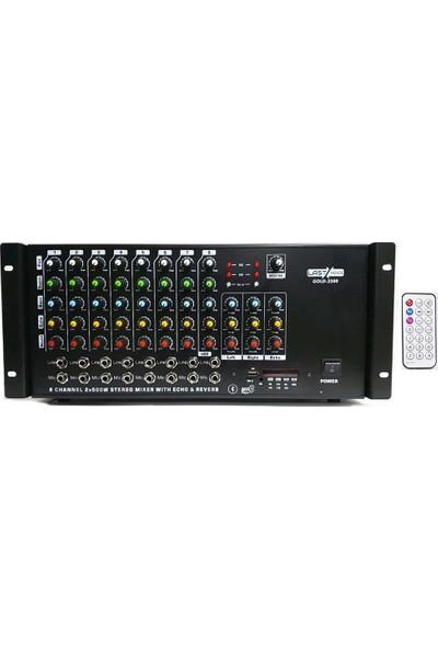 Lastvoice Gold-2500 Stereo Anfi 2x500 Watt Ekho ve Reverbli