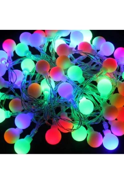 Gringo Karışık Renkli 50 Ampullü Yılbaşı Top Led Işık 4.5 Metre