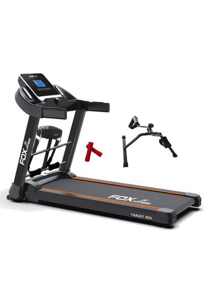Fox Fitness Target 80H 2.60 Hp Motorlu Masajlı Koşu Bandı + 2 x 05 kg Neopren Dambıl + F55 Mini Egzersiz Bisiklet Seti