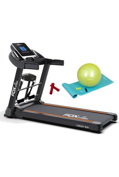 Fox Fitness Target 80H 2.60 Hp Motorlu Masajlı Koşu Bandı + 2 x 05 kg Neopren Dambıl + 4'lü Pilates Seti