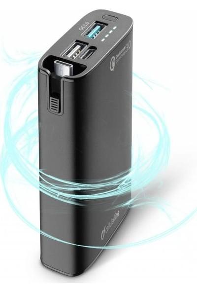 Cellularline Combo Qualcom&Type-C Harici Şarj 6700 mAh - Siyah