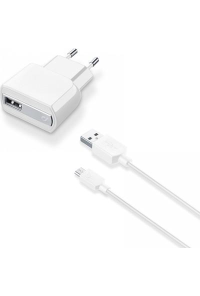Cellularline Micro USB Seyahat Şarjı 2A (Kablo+Adaptör)