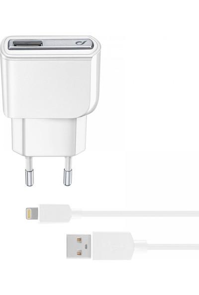 Cellularline Lightning Seyahat Ş. 2A (Kablo+Adaptör)