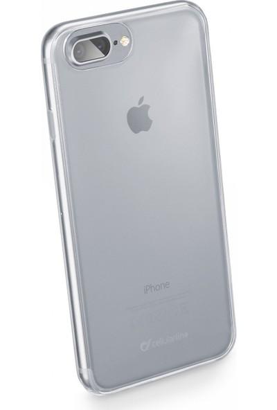 Cellularline iPhone 7 Plus /8 Plus Fine Parlak Kauçuk Kılıf Şeffaf