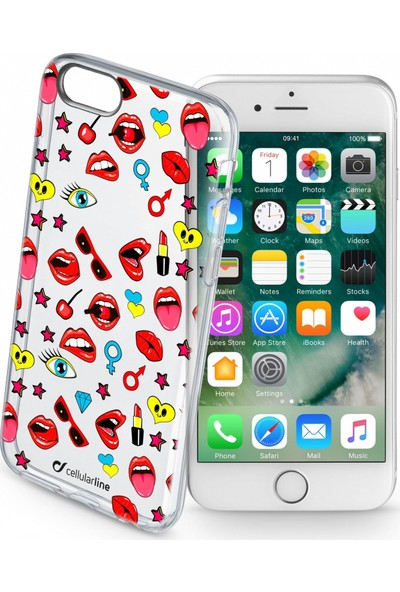 Cellularline iPhone 7/8 Style Pop Şeffaf Kılıf