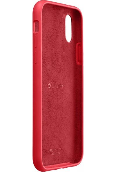 Cellularline iPhone XS Max Sensation Soft Kılıf - Kırmızı