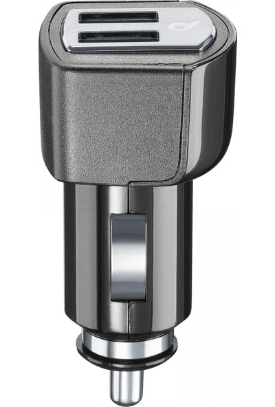 Cellularline Dual USB Araç Şarj Girişi 4A - Siyah