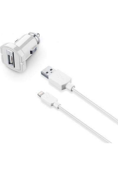 Cellularline Lightning Araç Şarjı 2A (Kablo+Adaptör)