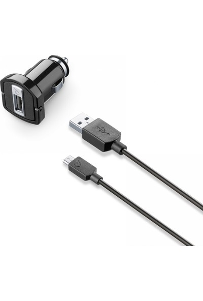 Cellularline Micro USB Araç Şarjı (Kablo+Adaptör)