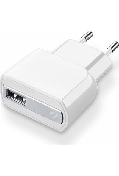 Cellularline Mobile Dual USB Seyahat Şarjı Girişi 2A - Beyaz