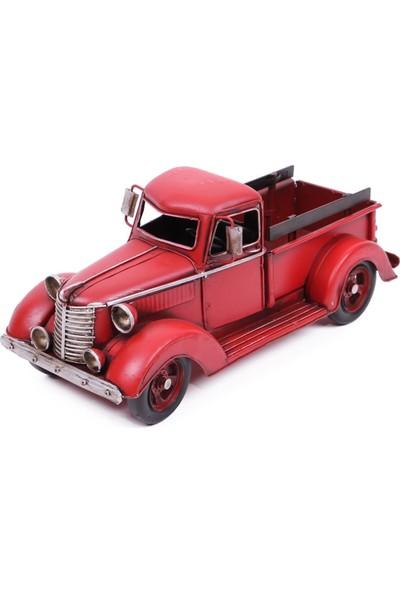 Evim Tatlı Evim Nostaljik Kırmızı Kamyonet Araba 34 cm