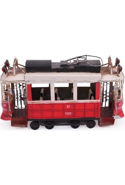 Evim Tatlı Evim Dekoratif Metal Taksim Tramway 18 cm