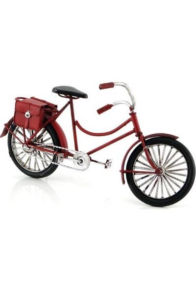 Evim Tatlı Evim El Yapımı Metal Kırmızı Bisiklet