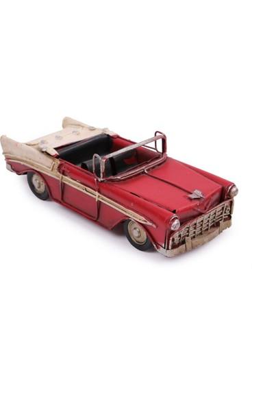 Evim Tatlı Evim Dekoratif Nostaljik Metal Klasik Araba 17 cm