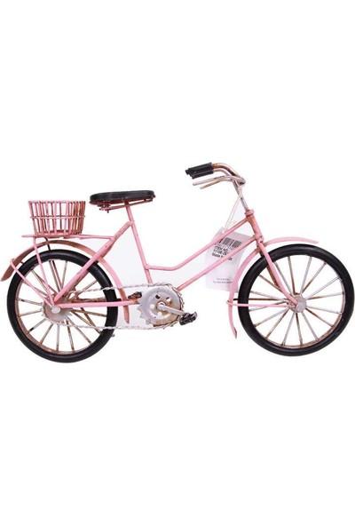 Evim Tatlı Evim El Yapımı Metal Pembe Bisiklet 32 cm