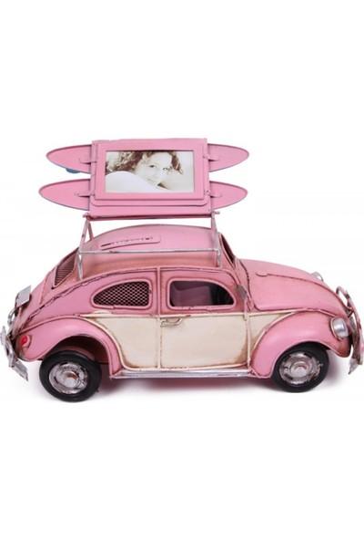 Evim Tatlı Evim Metal Nostaljik Resim Çerçeveli Kaplumbağa Araba 26 cm