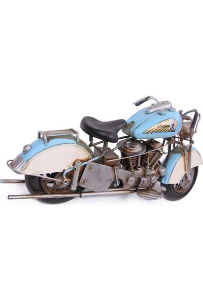 Evim Tatlı Evim Dekoratif Metal Nostaljik Motosiklet Indıan 41 cm