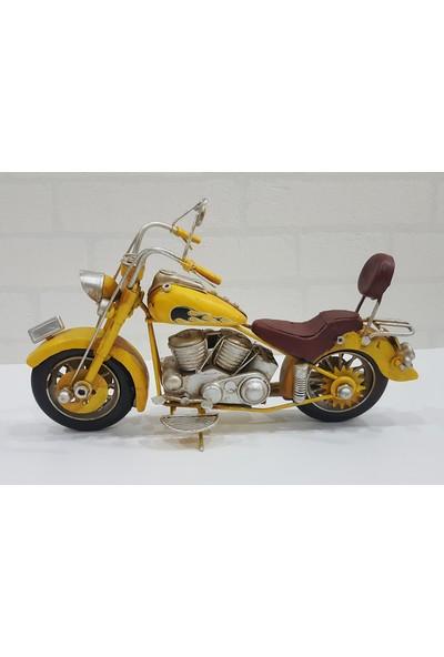 Evim Tatlı Evim Dekoratif Metal Motosiklet Mıamı 29 cm