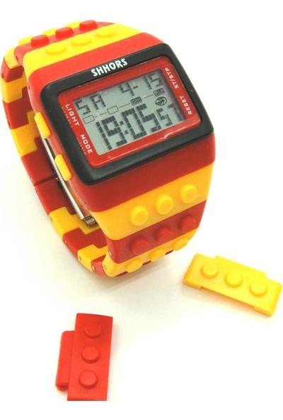 Evim Tatlı Evim Sarı Kırmızı Yap Boz Saat
