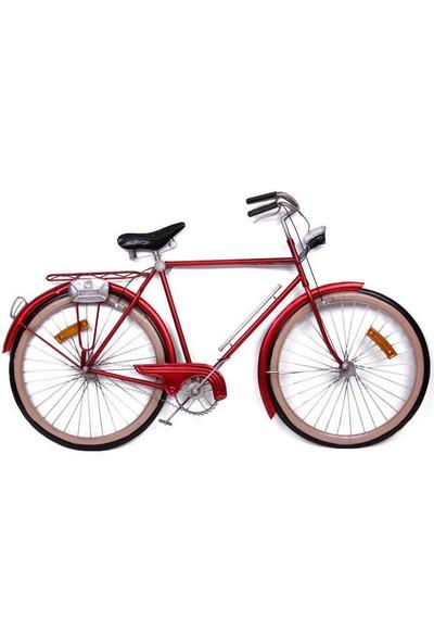 Evim Tatlı Evim Metal Kırmızı Bisiklet Duvar Panosu 87 cm