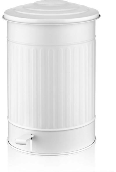 Evim Tatlı Evim Çöp Kovası Mutfak 37 Lt - Beyaz