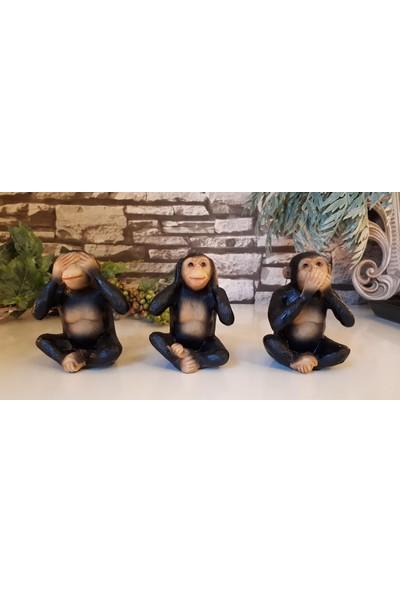 Evim Tatlı Evim Üç Maymun Görmedim Duymadım Bilmiyorum Biblo
