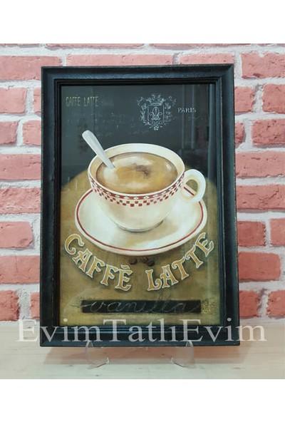 Evim Tatlı Evim Cafe Latte Tablo 33×23,5 cm
